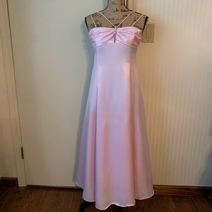 Other - Girl's size 14 pink gown and scarf